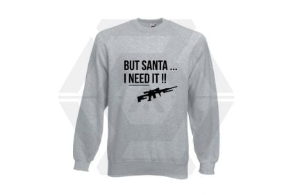 Daft Donkey Christmas Jumper 'Santa I NEED It Sniper' (Light Grey) - Size Extra Extra Large - £16.95