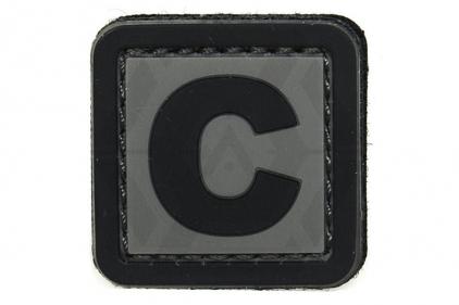 """VOS PVC Velcro Patch """"C"""""""