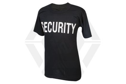 "Tru-Spec ""SECURITY"" T-Shirt (Black) - Size Small © Copyright Zero One Airsoft"