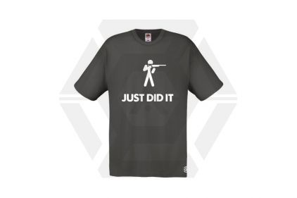 Daft Donkey T-Shirt 'Just Did It' (Grey) - Size Extra Extra Large