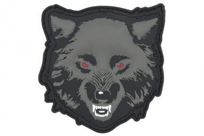 "101 Inc PVC Velcro Patch ""Wolf"" (Grey)"