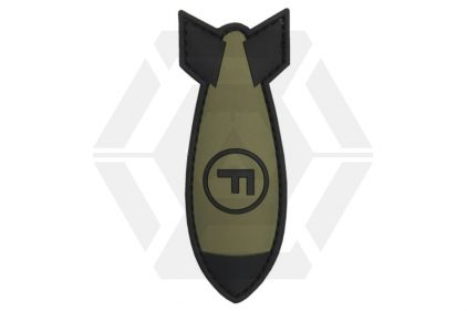 "101 Inc PVC Velcro Patch ""F-Bomb"" (Olive)"