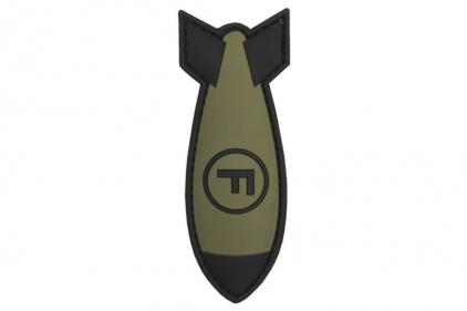 "101 Inc PVC Velcro Patch ""F-Bomb"" (Olive)"