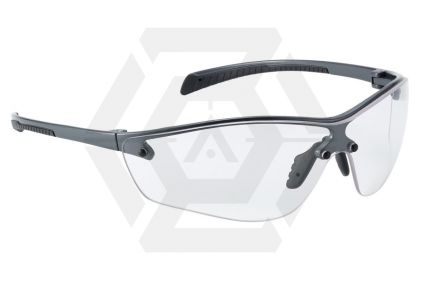 Bollé Protection Glasses Silium PLUS with Silver Frame, Clear Lens and Platinum Coating © Copyright Zero One Airsoft