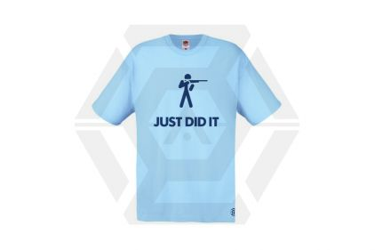 Daft Donkey T-Shirt 'Just Did It' (Blue) - Size Extra Extra Large
