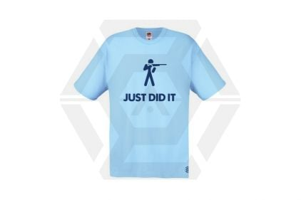 Daft Donkey T-Shirt 'Just Did It' (Blue) - Size Medium - £9.95