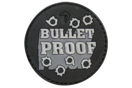 """Viper Velcro PVC Morale Patch """"Bullet Proof"""" © Copyright Zero One Airsoft"""