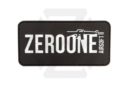 Zero One Airsoft PVC Velcro Patch 'Zero One Logo' (Black)