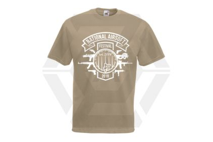 Daft Donkey Special Edition NAF 2018 'Est. 2006' T-Shirt (Tan) © Copyright Zero One Airsoft
