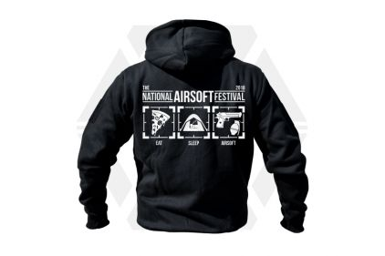 Daft Donkey Special Edition NAF 2018 'Eat, Sleep, Airsoft' Viper Zipped Hoodie (Black)