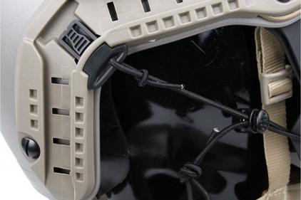 TMC Spartan Face Mask for Fast Helmets (Black)