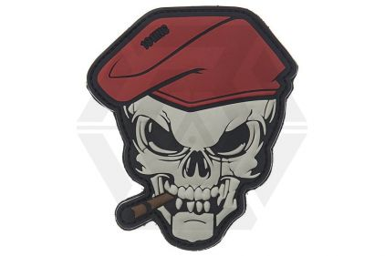 "101 Inc PVC Velcro Patch ""Cigar Skull"""