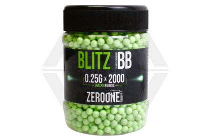 Zero One Blitz BB Tracer 0.25g 2000rds (Green Glow)