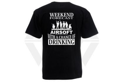 Daft Donkey T-Shirt 'Weekend Forecast' (Black) - Size Extra Large