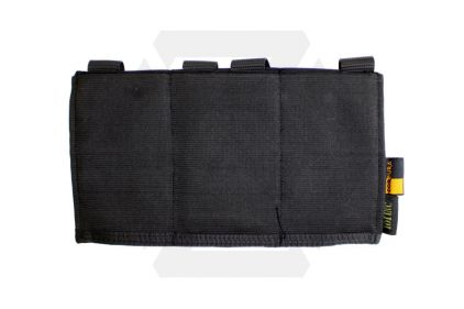 101 Inc MOLLE Elastic Triple M4 Mag Pouch (Black) © Copyright Zero One Airsoft