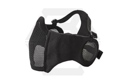 ASG Padded Mesh Mask with Ear Protection (Black) © Copyright Zero One Airsoft