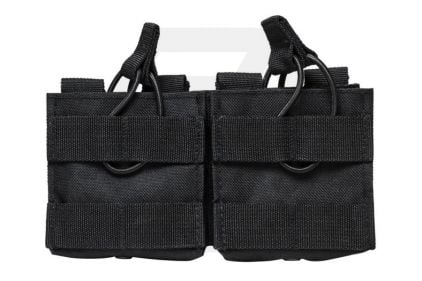 NCS VISM MOLLE Double Mag Pouch for .308 & 7.62 (Black) © Copyright Zero One Airsoft