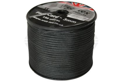 Web-Tex 100m ParaCord Reel (Black)