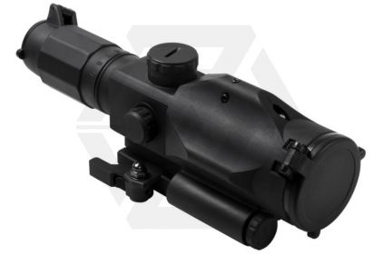 NCS 3-9x40 Scope with Blue/Red Illuminating P4 Sniper Reticle & QR Integrated Green Laser