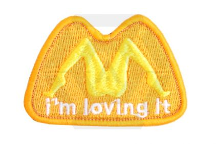 *Clearance* 'I'm Loving It' Velcro Patch (Orange)