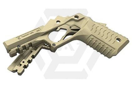 Recover CC3 Grip & Rail System for Marui 1911 (Tan)