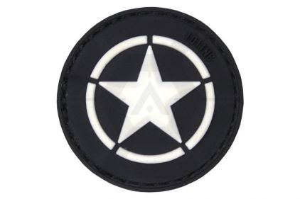 "101 Inc PVC Velcro Patch ""Allied Star"" (Black)"