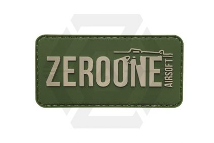 Zero One Airsoft PVC Velcro Patch 'Zero One Logo' (Olive)