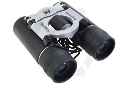 NCS 8x21 Black Folding Binoculars with Pouch