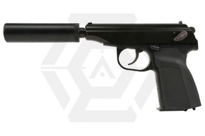 WE GBB Makarov 654K with Silencer (Black)