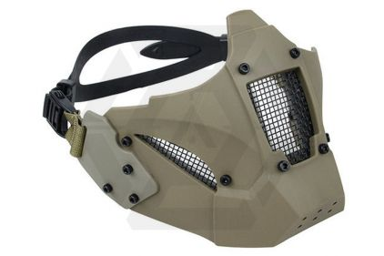 TMC Half Face Mask with Fast Helmet Adaptors (Khaki)