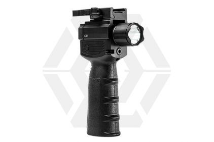 NCS Vertical Foregrip with LED Strobe Flashlight, Green Laser & QR Mount