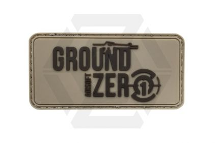 Ground Zero Airsoft PVC Velcro Patch 'Ground Zero Logo' (Tan)