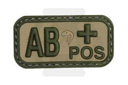Viper Velcro PVC Blood Group Patch AB+ (MultiCam)