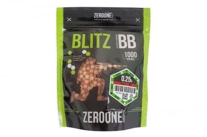 Zero One Blitz Bio BB Tracer 0.25g 1000rds (Red Glow) - NEW © Copyright Zero One Airsoft
