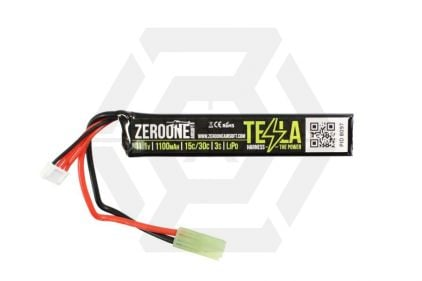 Zero One 11.1v 1100mAh 15C LiPo Battery © Copyright Zero One Airsoft