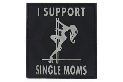 "101 Inc PVC Velcro Patch ""I Support Single Moms"""