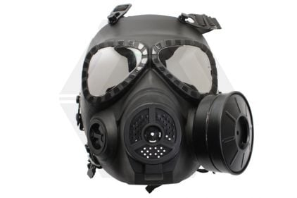 Mil-Force Gas Mask with Battery Operated Fan (Black)
