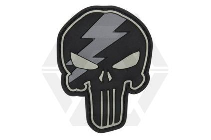 "101 Inc PVC Velcro Patch ""Punisher Lightning"" © Copyright Zero One Airsoft"
