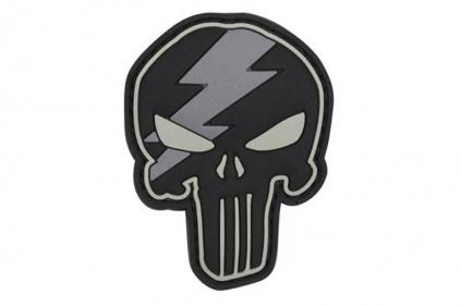 "101 Inc PVC Velcro Patch ""Punisher Lightning"""