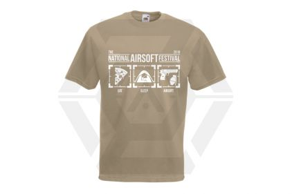 Daft Donkey Special Edition NAF 2018 'Eat, Sleep, Airsoft' T-Shirt (Tan)