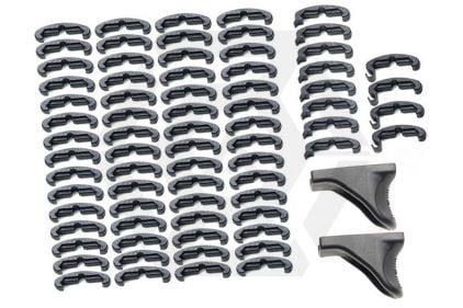 BF Laru Style Index RIS Clips Hand Stop Set (Black) © Copyright Zero One Airsoft