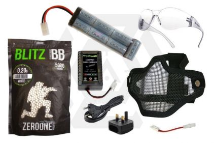 Zero One 8.4v 3700mAh NiMh Large Battery Starter Pack Tier 1 (Bundle)