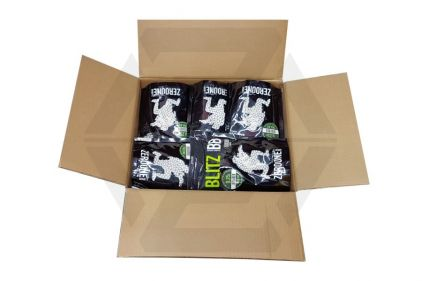 Zero One Blitz Bio BB 0.25g 5000rds (White) Carton of 20 (Bundle) © Copyright Zero One Airsoft