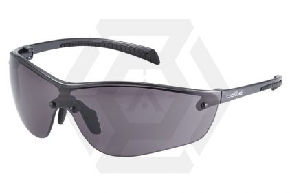 Bollé Protection Glasses Silium PLUS with Silver Frame, Smoke Lens and Platinum Coating