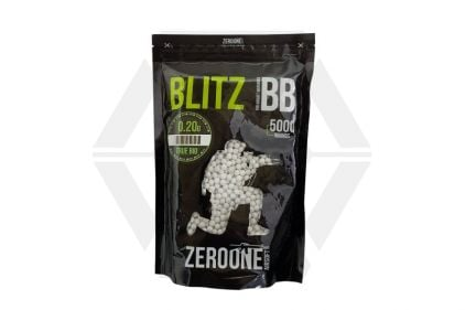 Zero One Blitz Bio BB 0.20g 5000rds (White) © Copyright Zero One Airsoft