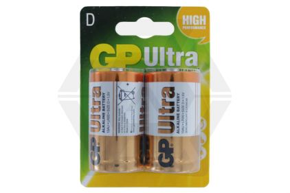 GP Ultra Alkaline Batteries D Cell (Pack Of 2) © Copyright Zero One Airsoft