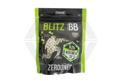Zero One Blitz Bio BB Tracer 0.20g 1000rds (Green Glow) © Copyright Zero One Airsoft