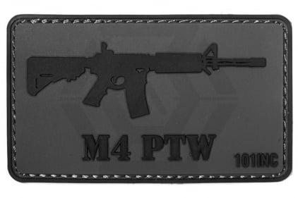 "101 Inc PVC Velcro Patch ""M4 PTW"" © Copyright Zero One Airsoft"