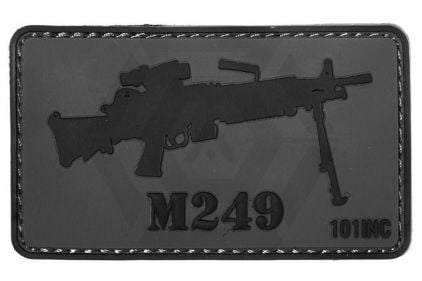"101 Inc PVC Velcro Patch ""M249"" © Copyright Zero One Airsoft"