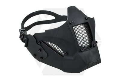 TMC Half Face Mask with Fast Helmet Adaptors (Black)